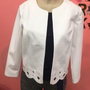 NWT white long sleeve blazer